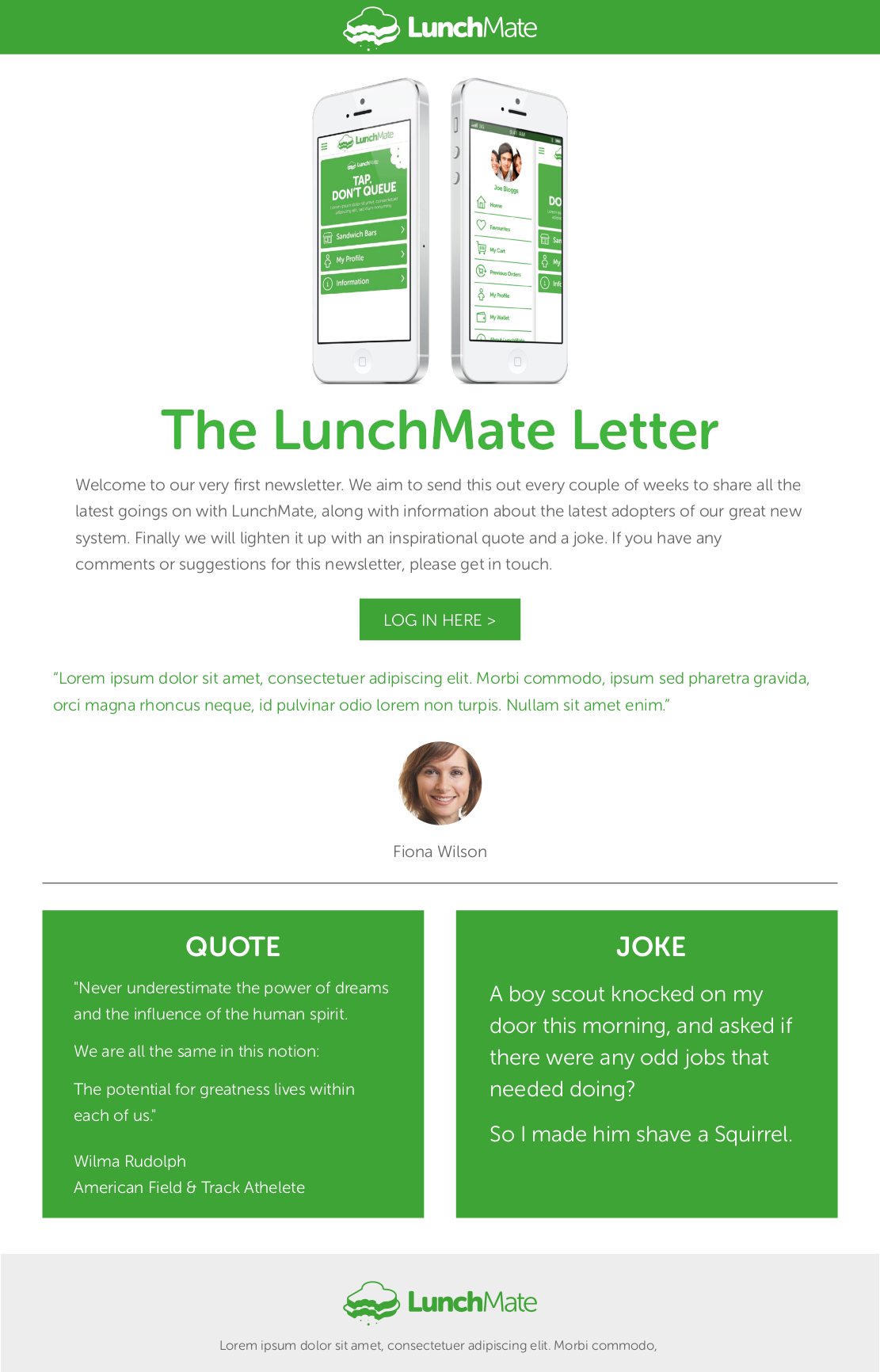Lunchmate Letter
