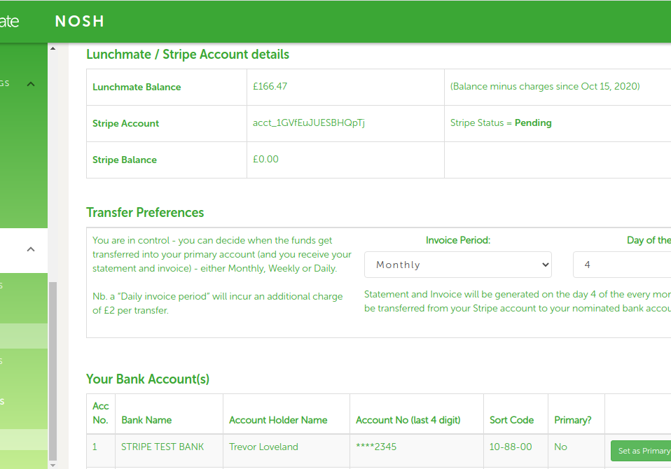 Control panel accounts