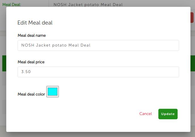 Edit Meal Deal